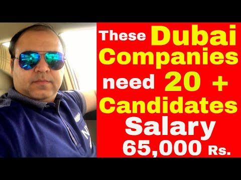 Dubai Company Needs 20 Candidates || Jobs in Dubai