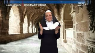 Collegamento con Suor Maria Virgilia (Lucia Ocone) - Quelli che il calcio 22/03/2015