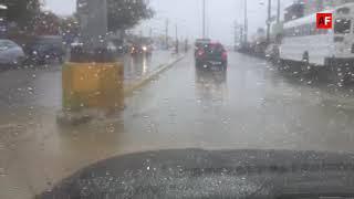 #VideoAF Bud deja lluvias en San José del Cabo, BCS