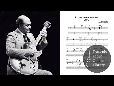 All the things you are - Joe Pass (Transcription)