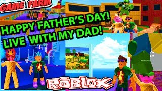 MIMI PLAYING ROBLOX LIVE HAPPY FATHERS DAY EVERYONE!