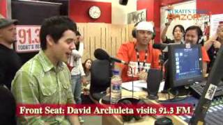 David Archuleta on the Front Seat at 91.3FM / Razor TV in Singapore - part 3 of 5
