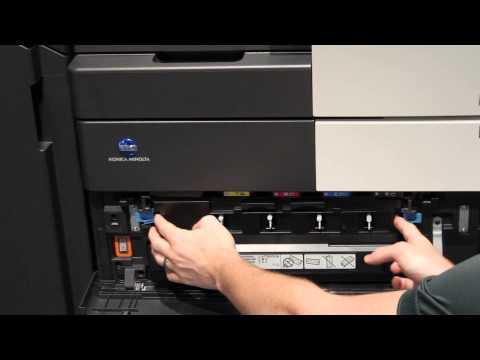Konica Minolta - Bizhub C454 and C554 -How to change the