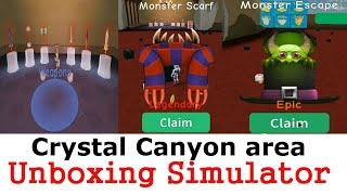 Crystal Canyon area and 1 code (gems) Unboxing Simulator Roblox | 6 new swords | UPDATE 2.13