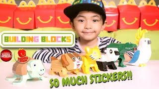 Happy Meal McDonald's Building Blocks Toys Animals for Kids | Learn with Liam