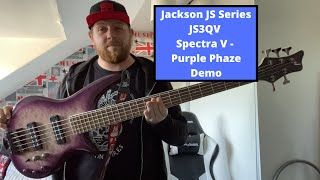 Jackson JSQ3 Spectra V Bass | Purple Phaze Demo | TheOnlyTurnip