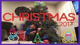 CHRISTMAS PRESENTS 2017 Kid Opening Christmas Gifts Early Baking Santa Claus Chocolate Cupcakes