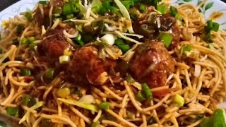Veg Manchurian with Noodles, tasty and quick chinese dish recipe..