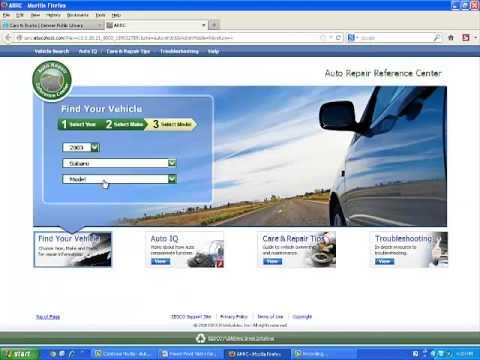 Auto Repair Reference Center Tutorial