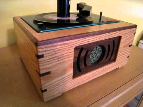 Custom Wood Cabinet Hi Fi 45 Rpm Rca Ey 2 Record Player