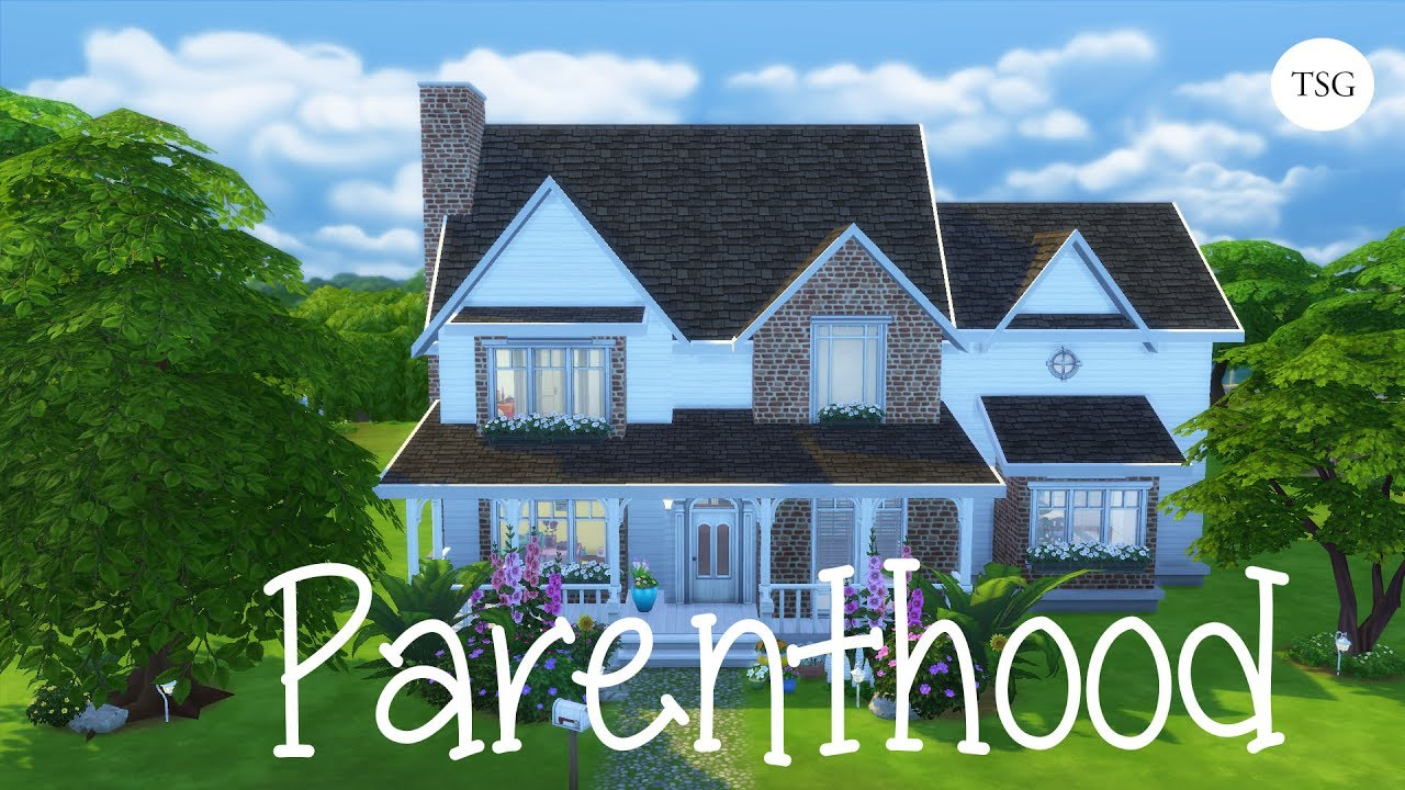 2 story home ft parenthood pack the sims 4 speed build