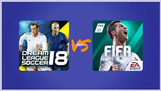 Dream League Soccer 2018 VS Fifa Mobile 18 - Gameplay Comparison