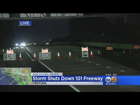 Storm Shuts Down 101 Freeway