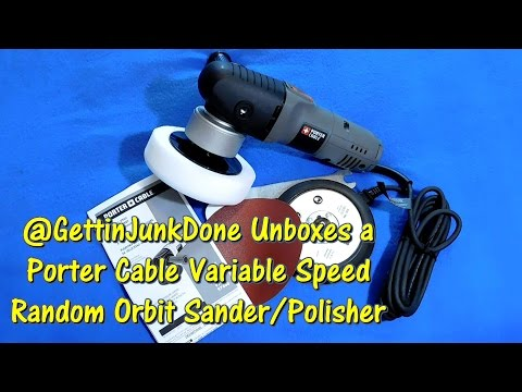 Porter Cable Random Orbit Sander & Polisher Unboxing by @GettinJunkDone