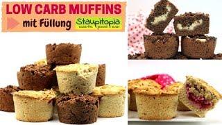 So kannst du Low Carb Muffins mit einer Füllung ohne Zucker backen | Mandel- und Schokomuffins