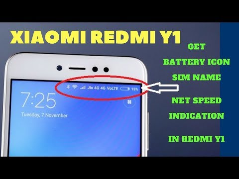 how-to-get-battery-percentage-on-redmi-y1-sim-carrier-name-data-speed-on-top-indicator-bar-redmi-y1