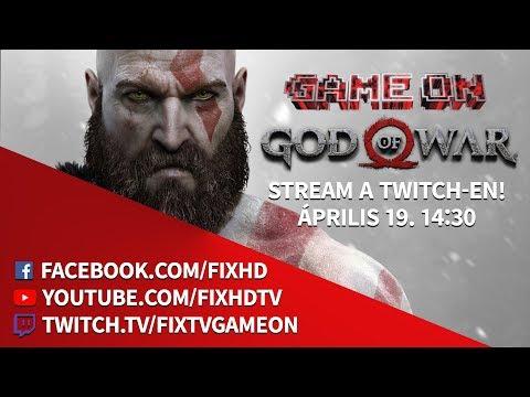GOD OF WAR STREAM A TWITCH-EN! | Game On | 2018.04.19