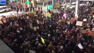 AIRPORT PROTESTS TRUMP BAN JFK NATIONWIDE SHUTDOWN