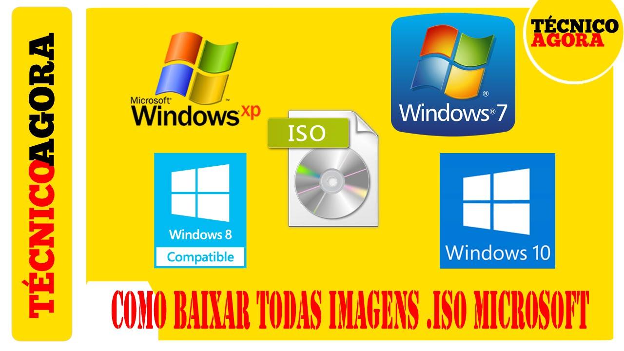 Como baixar todas imagens .ISO da Microsoft. …