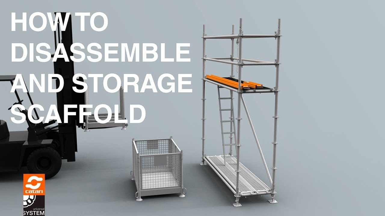 Catari US® Disassemble And Storage Scaffolding In Safety