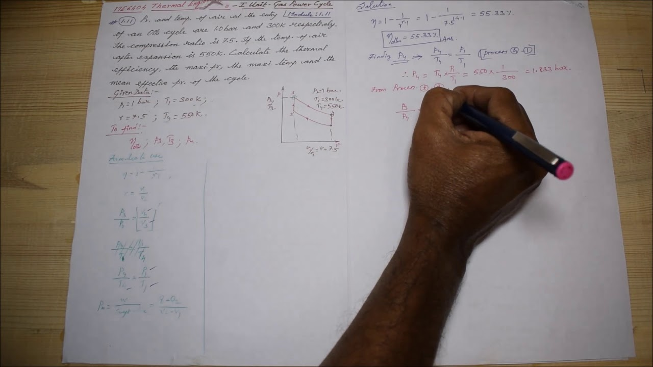 otto cycle solved problems