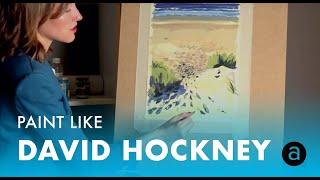 Мастер-класс живописи в стиле David Hockney | Мария Покровская
