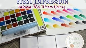 Sakura Koi Water Colors | First Impression & Review