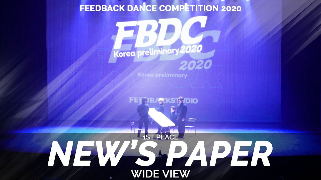 NEW'S PAPER [1ST PLACE] | WIDE VIEW | 2020 FEEDBACK COMPETITION KOREA PRELIMINARY | 피드백 컴페티션 2020