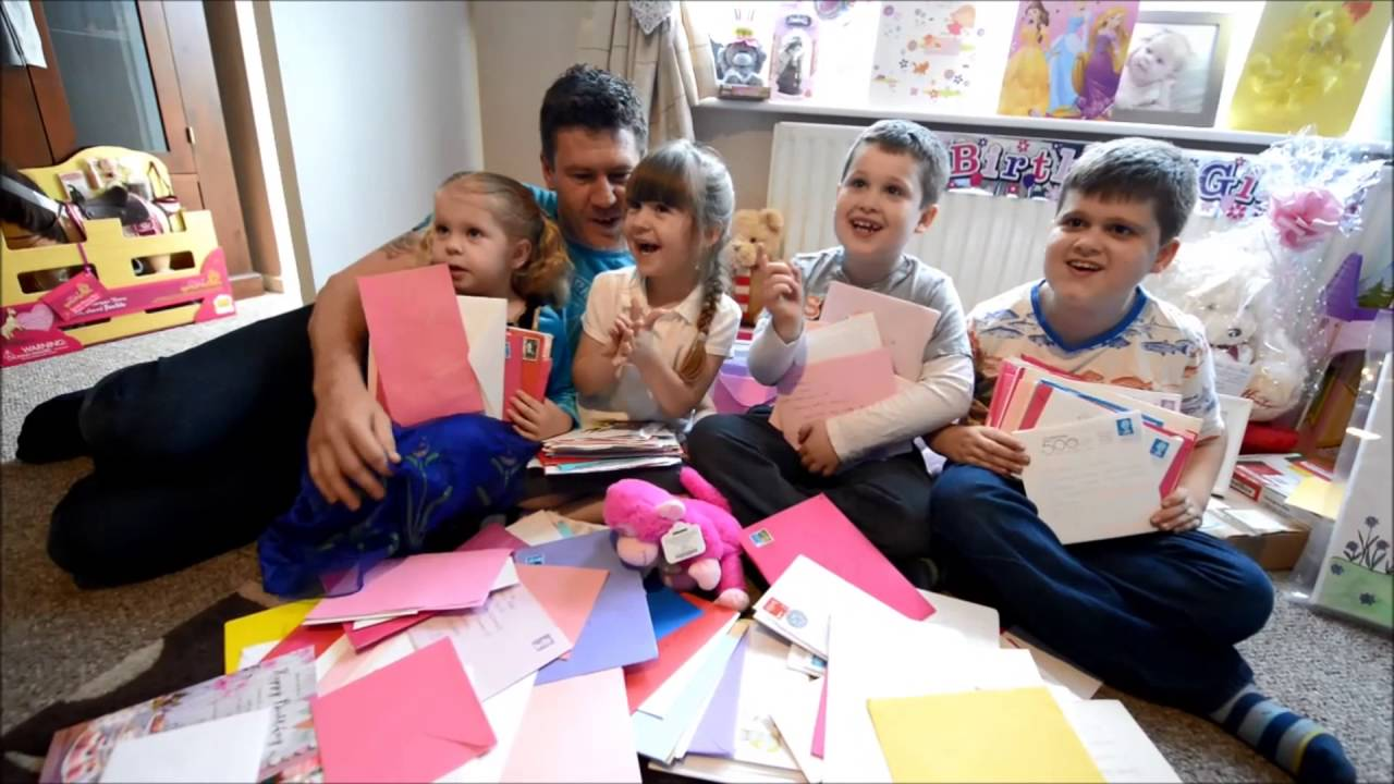 Five Year Old Isabell Gets 2000 Birthday Cards