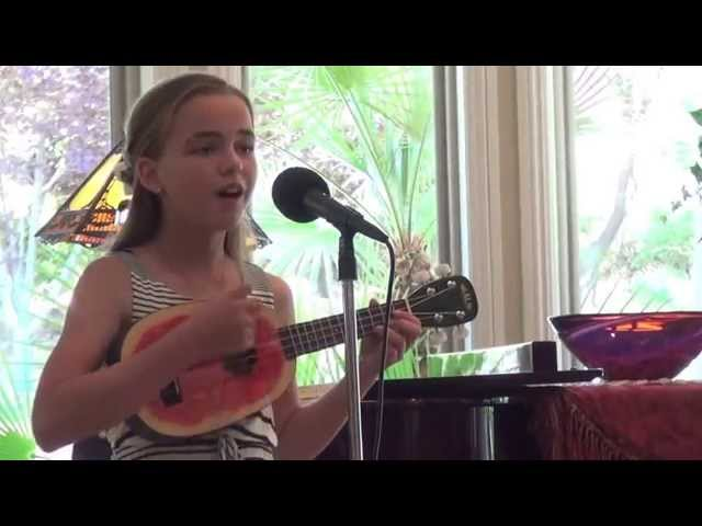 Louis Armstrong Oh What a Wonderful World on ukulele (cover by 12-year old Chloe Adelaide Watson)
