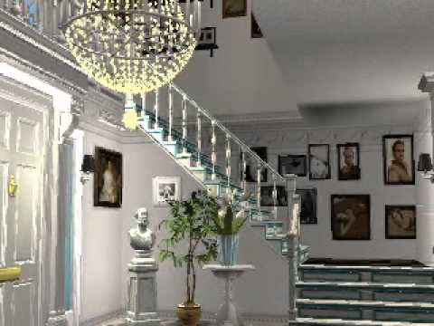 Palm beach florida house sims 2 mansion youtube for Beach house 3 free download