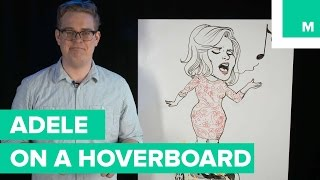 How to Draw Adele on an Exploding Hoverboard | Bob Draws