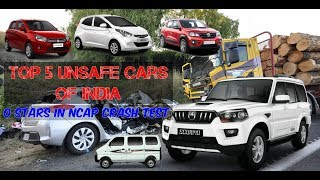 TOP 5 Unsafe Cars of INDIA | Got 0 Stars in Global NCAP Ratings