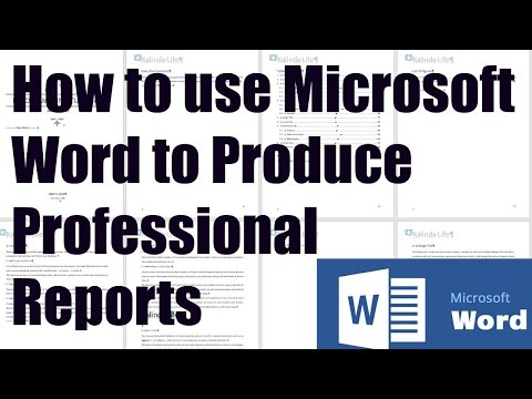 How to use Microsoft Word for Report Writing