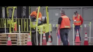 Forklift drivers flash skills in Columbia Forklift Challenge