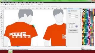 Cara Merubah Warna Desain Baju Yang Sudah Jadi Gambar | Belajar CorelDRAW