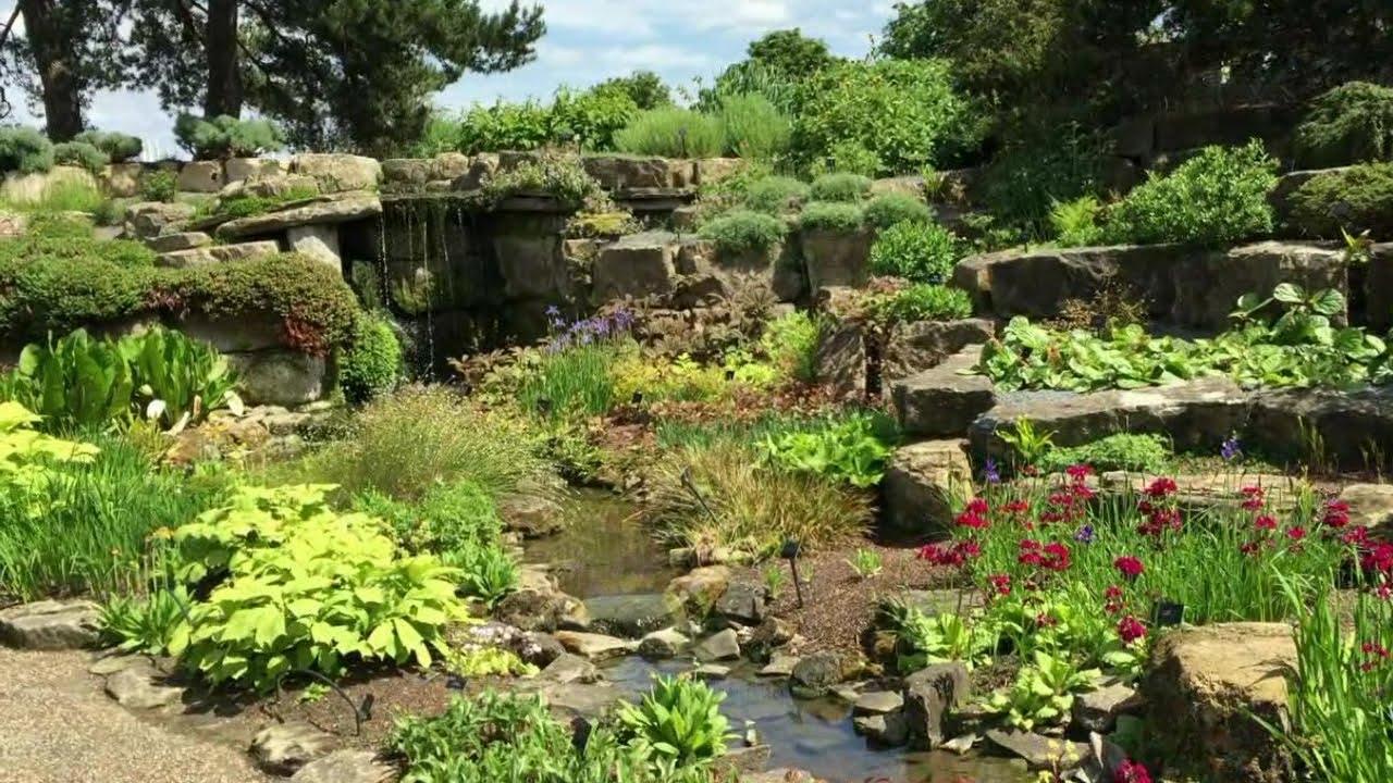 Walking in the Rock Garden at Kew Botanical Gardens London - YouTube