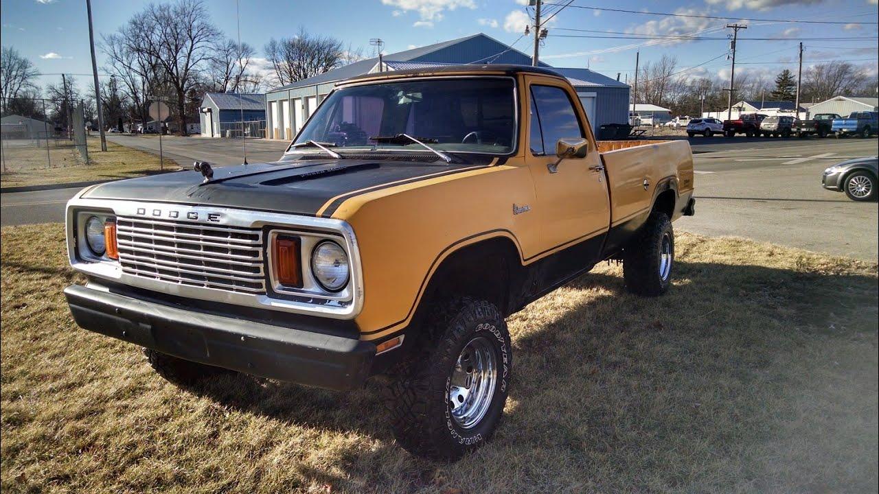 1978 Dodge w-150 440 Power Wagon - YouTube