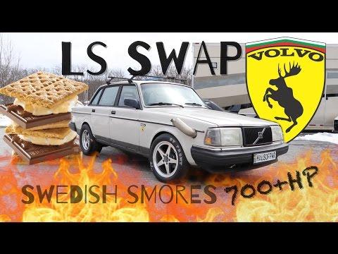 LS Swap VOLVO 240 Joyride Ends in Flames - YouTube