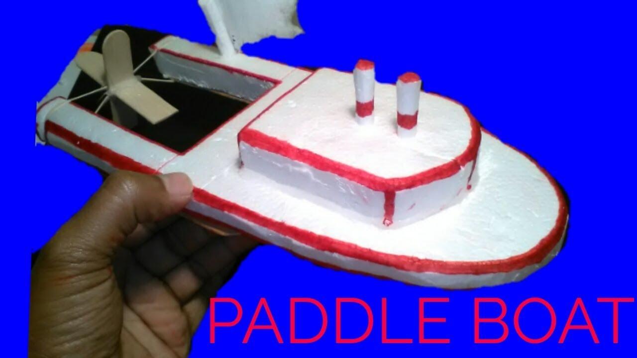 How To Make A Styrofoam Polystyrene Paddle Boat Youtube