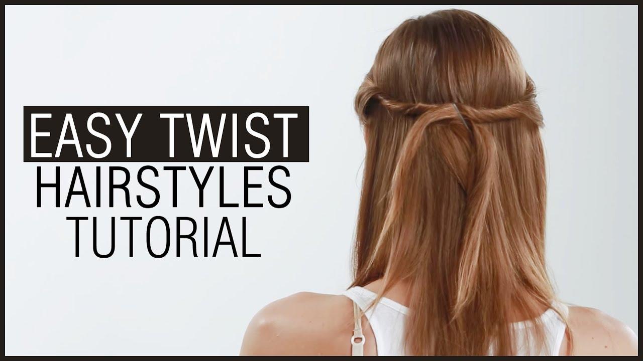 Easy TWIST HAIRSTYLE Tutorial In 2 Minutes Side Twist