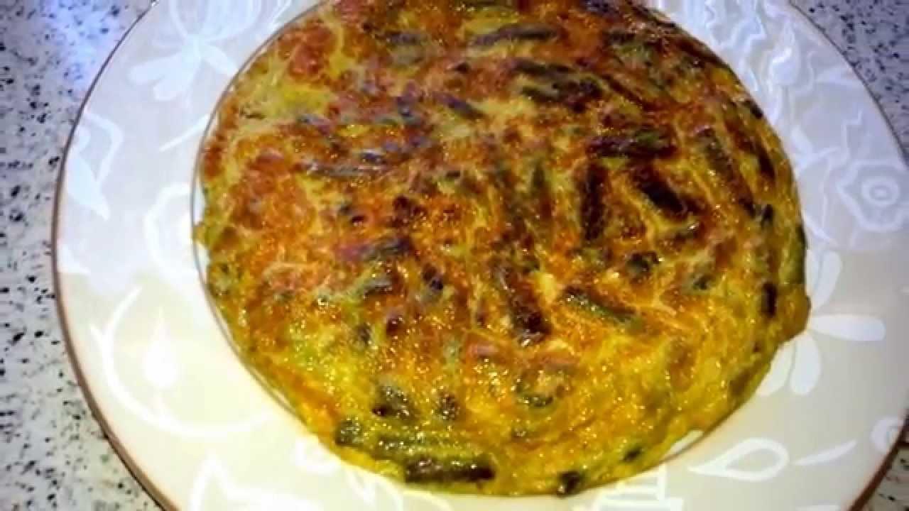 Tortilla De Espárragos Verdes Youtube