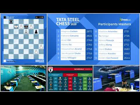 Tata Steel Chess Round 8 with GM Peter Leko and IM Sopiko Guramishvili