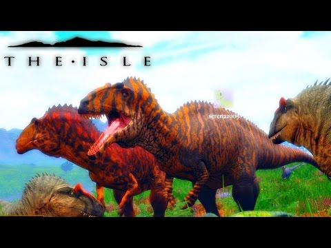 The Isle - ACRO VS REX GIANT WAR & ACROCANTHOSAURUS TIGER SKIN ( Early Access Gameplay )