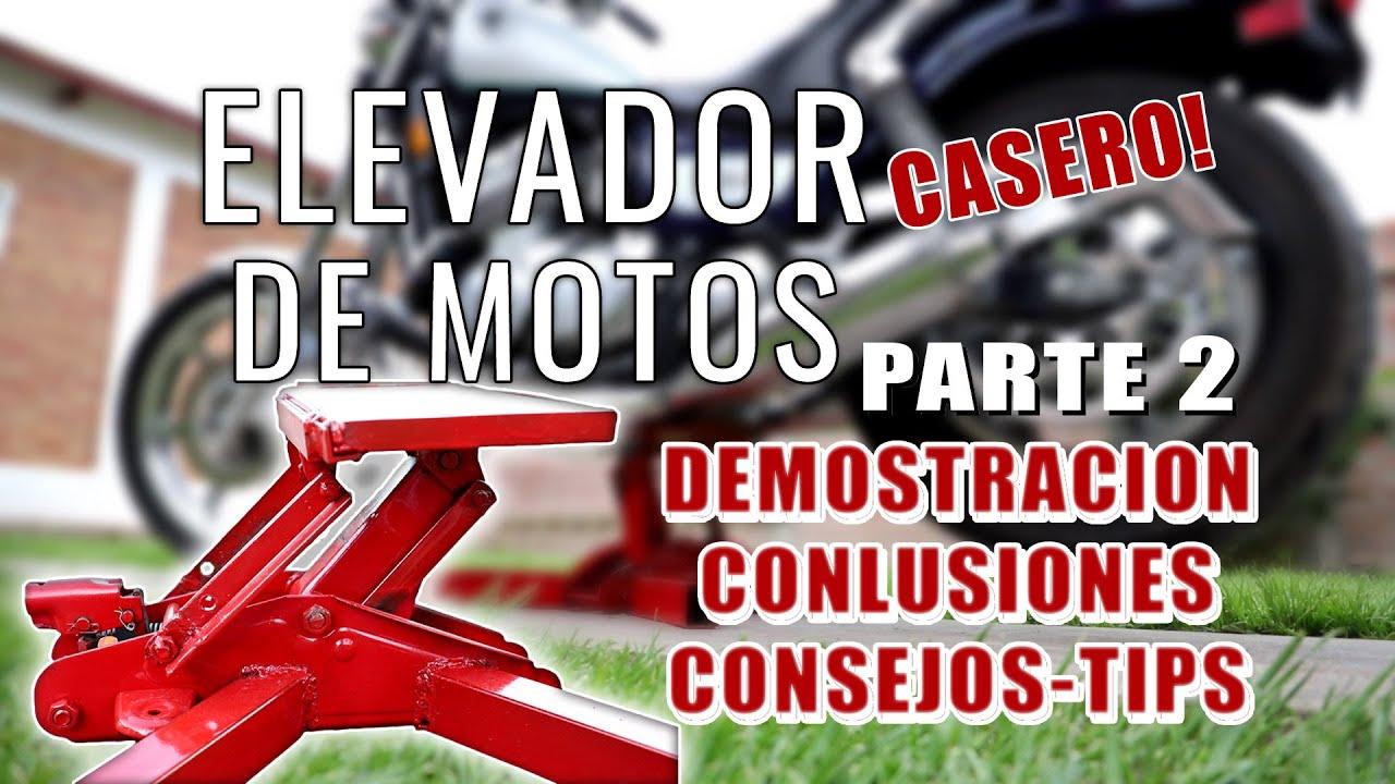 Elevador para motos Casero! parte 2 - Funcionamiento - Tips - Conclusiones - Consejos