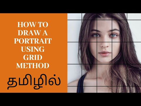 How To Draw A Potrait For Beginners Using Gridmethod In Tamil