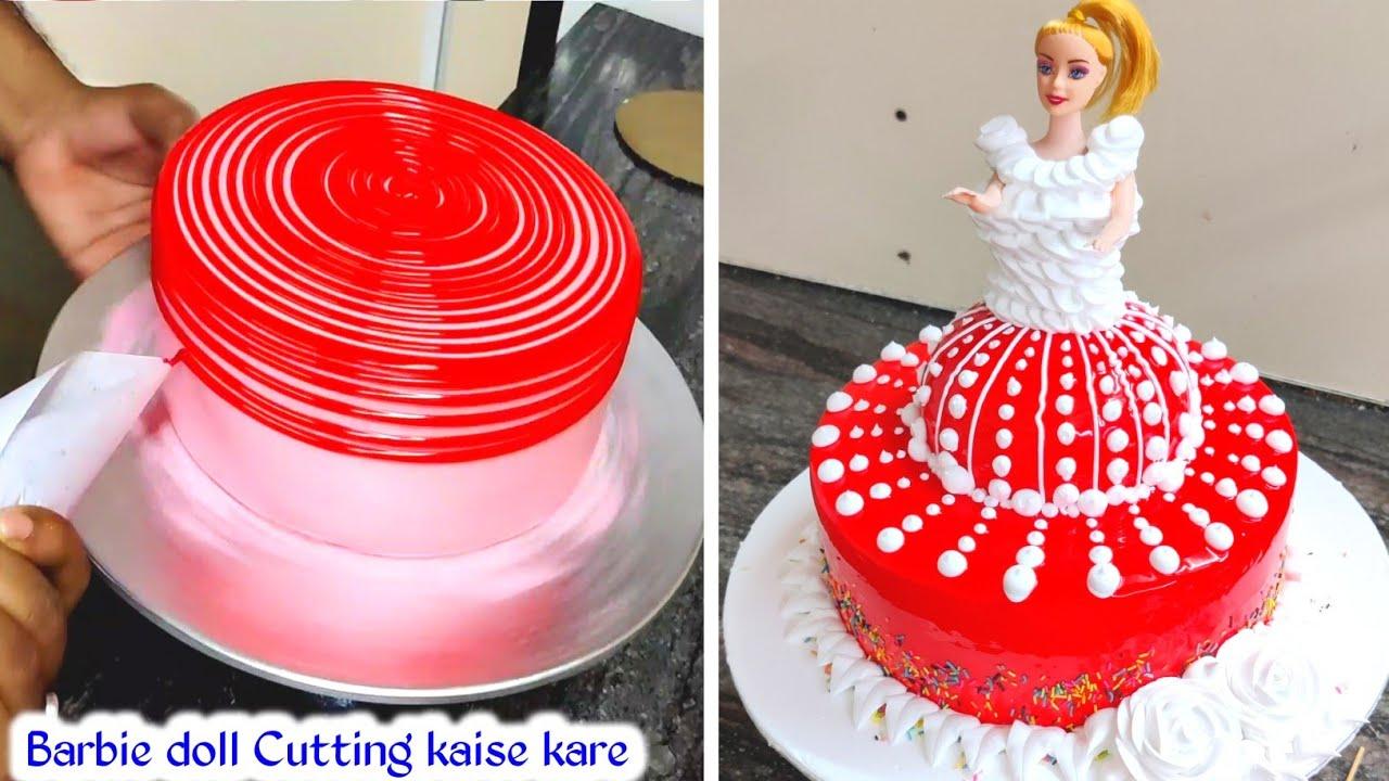 Barbie Doll Cake | Whipped Cream Barbie Doll Cake | Fancy Barbie Doll Cake