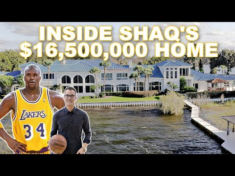 Shaquille O'Neal's $16 Million Mansion Tour in Orlando Florida