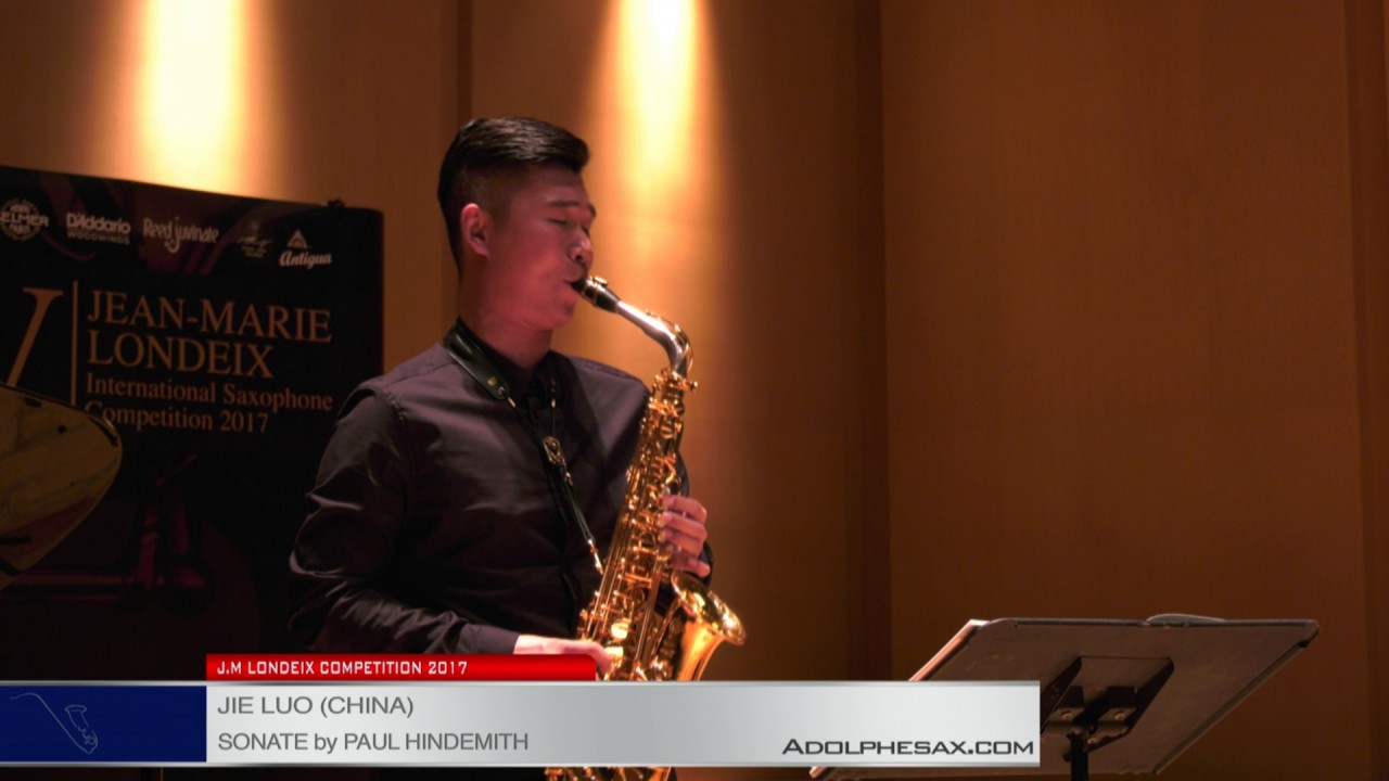 Londeix 2017 – Semifinal – Jie Luo (China) – Sonate by Paul Hindemith