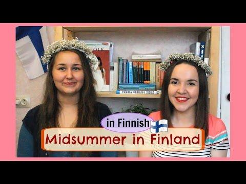Finnish lesson 18. How Finns celebrate Juhannus (Midsummer). With Anni from Finland. Урок финского.